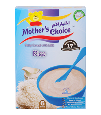 Mother`s Choice Rice Cereals with milk