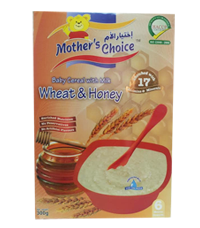 Mother's Choice Baby cereals Wheat  plus Honey with milk
